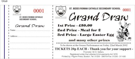 Pilgrim Press - Mail Order Draw & Raffle Ticket Specialists
